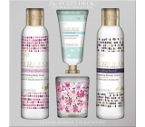 Baylis & Harding Forest Bell and Flower Meadow cleansing gel 250 ml + shower cream 250 ml + hand cream 30 ml + scented candle 60 g, cosmetic set