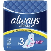 Always Classic Night sanitary towels with wings 8 pieces