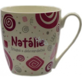Nekupto Twister mug named Natalie pink 0.4 liter