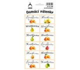 Arch Stickers Home Brandy Pear 12 labels