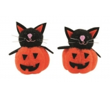 Pumpkin with black cat 5 cm, 2 pieces in a bag