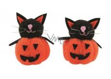 Pumpkin with a black cat 5 cm, 2 pieces in a bag