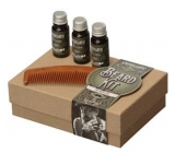 Apothecary87 beard oil 3 x 10 ml + Comb Gift set for beard