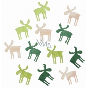Reindeer woody greens and natural 4 cm 12 pieces