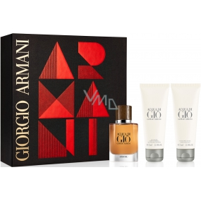 Giorgio Armani Acqua di Gio Absolu perfumed water for men 40 ml + shower gel 75 ml + aftershave 75 ml, gift set