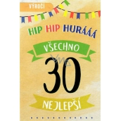 Nekupto Birthday card 30 Happy 115 x 170 mm