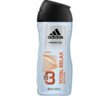 Adidas Total Relax 3in1 250 ml men's shower gel for body, face and hair