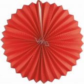 Lantern round red 25 cm