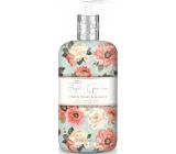 Baylis & Harding Peach, peony and jasmine liquid hand soap dispenser 500 ml