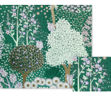 Nekupto Gift wrapping paper 70 x 150 cm Green with trees