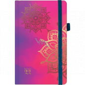 Albi Diary 2022 pocket with rubber band Mandala 15 x 9.5 x 1.3 cm