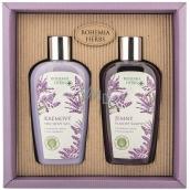 Bohemia Gifts Lavender shower gel 250 ml + hair shampoo 250 ml, cosmetic set