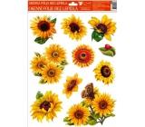 Room Decor Window film without glue sunflower one ladybird 42 x 30 cm 1 piece