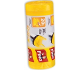 Fino Color Trash bags with handles yellow 20 liters, 44 x 50 cm, 15 µm, 30 pieces