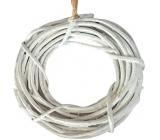 Wicker wreath white 22 cm