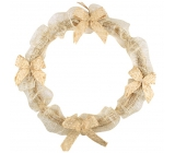 Natural wreath with silver threads 30 cm