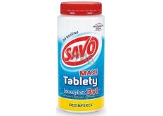 Savo 3v1 komplex Maxi chlorové tablety do bazénu dezinfekce 1,4 kg