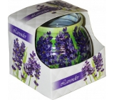 Admit Lavender decorative aromatic candle in glass 80 g
