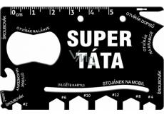 Albi Super Dad Wallet Multi Tools 8.5 cm x 5.3 cm x 0.2 cm