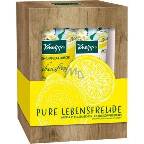 Kneipp Pure Lebensfreude shower gel 200 ml + body lotion 200 ml, cosmetic set