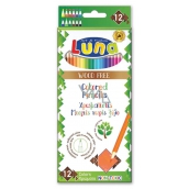 Luna EKo Crayons wood-free crayons, 12 intense colors, friendly to nature
