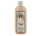 Bohemia Gifts Angel with four-leaf clover Grape oil, herbal extract and the scent of apples and cinnamon Christmas shower oil gel 100 ml