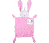First Steps Sleepy with plush head Hare Minky pink 26 x 18 cm