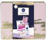 Nivea Blossom Care micellar water 200 ml + body souffle 200 ml + face mask 1 piece + Labello Soft Rosé lip balm 4.8 g + tin box, cosmetic set