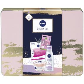 Nivea Blossom Care micellar water 200 ml + body souffle 200 ml + face mask 1 piece + Labello Soft Rosé lip balm 4.8 g + tin box, cosmetic set