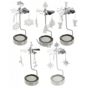 Rotary nickel tea stand holder 65 x 160 mm