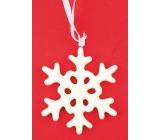 Ceramic snowflake for hanging 9 cm