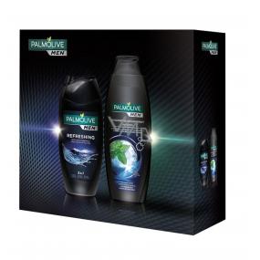Palmolive Men Invigorating Anti-Dandruff Hair Shampoo 350 ml + Refreshing 3 in 1 Shower Gel 250 ml, cosmetic cassette