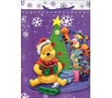 Ditipo Disney Gift Paper Bag for Kids L Winnie the Pooh Tiger Cub with a Star 26,4 x 12 x 32,4 cm