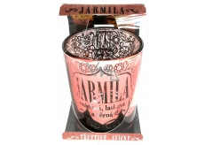 Albi Glittering candle holder made of glass for JARMILA tea candle, 7 cm