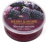 Heart & Home Juicy mulberries Soy scented candle burns up to 12 hours 36 g
