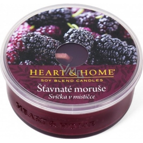 Heart & Home Juicy mulberry Soy Scented Candle in a cup burns up to 12 hours 36 g