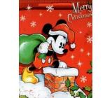 Nekupto Gift paper bag large 33 x 26 x 13 cm Christmas Mickey Mouse 1188 WLGL