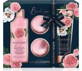 Baylis & Harding Fresh Rose Shower Cream 300 ml + Body Lotion 200 ml + Sparkling Ballistic Bath Ball 2 x 70 g, cosmetic set