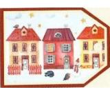 Nekupto Christmas gift cards Three houses 5.5 x 7.5 cm 6 pieces