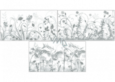 Room Decor Shading window foil with grasses and milky background 54.5 x 30 cm