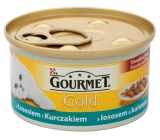 Gourmet Gold Cat Salmon and chicken pieces of canned food for adult cats 85 g