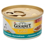 Gourmet Gold Cat Salmon and chicken pieces canned adult cats 85 g