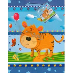 Nekupto Gift paper bag 23 x 18 x 10 cm Tiger 1108 40 KFM