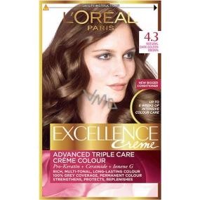Loreal Paris Excellence Creme hair color 4.3 Brown gold