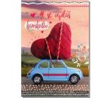 Albi Greeting Card - Heart on Car