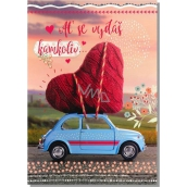 Albi Envelope Playing Card Out of Love Heart on a Toy Car I ll by There For You 14.8 x 21 cm