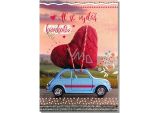 Albi Greeting Card - Heart on Car