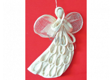 Angel abaca flying flat with arches for hanging 20 cm