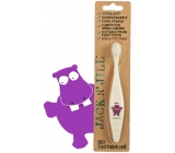 Jack N Jill BIO Hippopotamus extra soft toothbrush for children, decomposable in nature, made of corn starch, without BPA and PVC