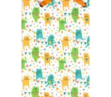 Nekupto Gift paper bag luxury large 32.5 x 32.5 x 14 cm Cats 1603 LIL
